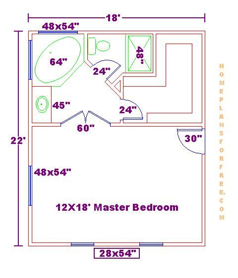 Great Space Planning For A Mater Bed Bath Walk In Closet Source Arsitektur Ruangan