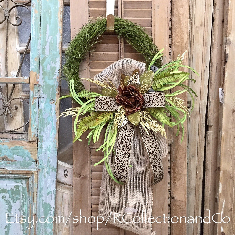Fall Wreath, Door Wreath, Wreath, Door Decor, Floral Wreath, D. Stevens Leopard & Peony Vine Wreath by RcollectionandCo on Etsy https://www.etsy.com/listing/281519480/fall-wreath-door-wreath-wreath-door