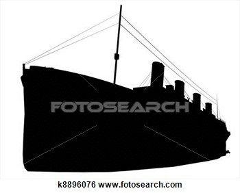 Titanic Silhouette Stock Illustration K8896076 Photo Posters Stock Illustration Titanic