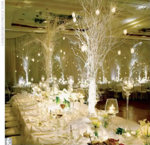 Elegant Winter Wedding Themes Winter Wedding Centerpiece Magical
