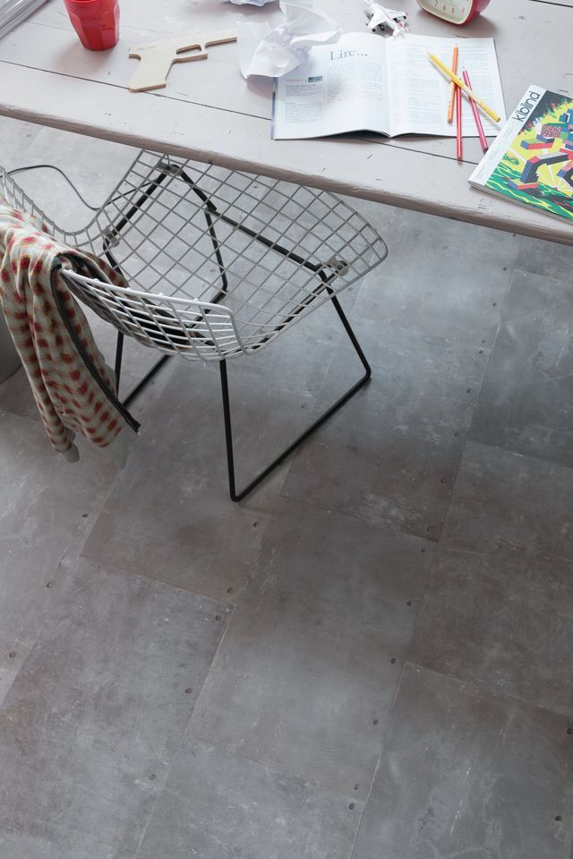 Revêtement de sol PVC, stratifié, salle de bain, cuisine, salon