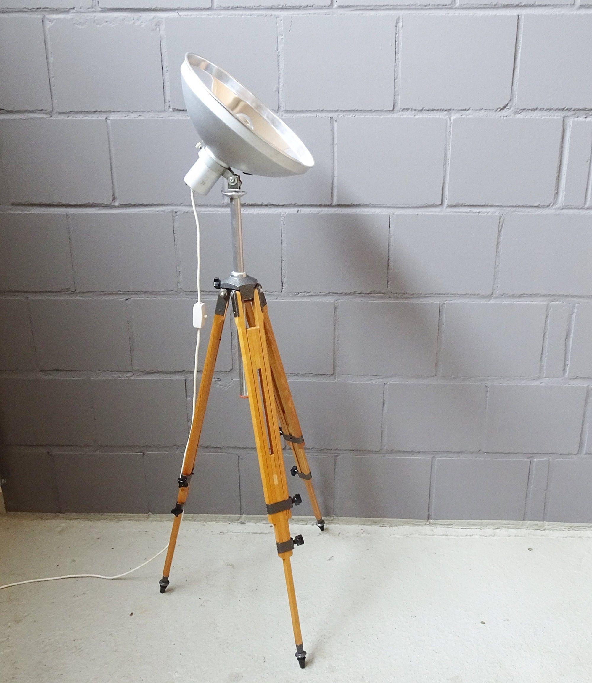 Stehlampe Mid-Century Fabrik Leuchte Standleuchte Retro Lampe Industrielampe