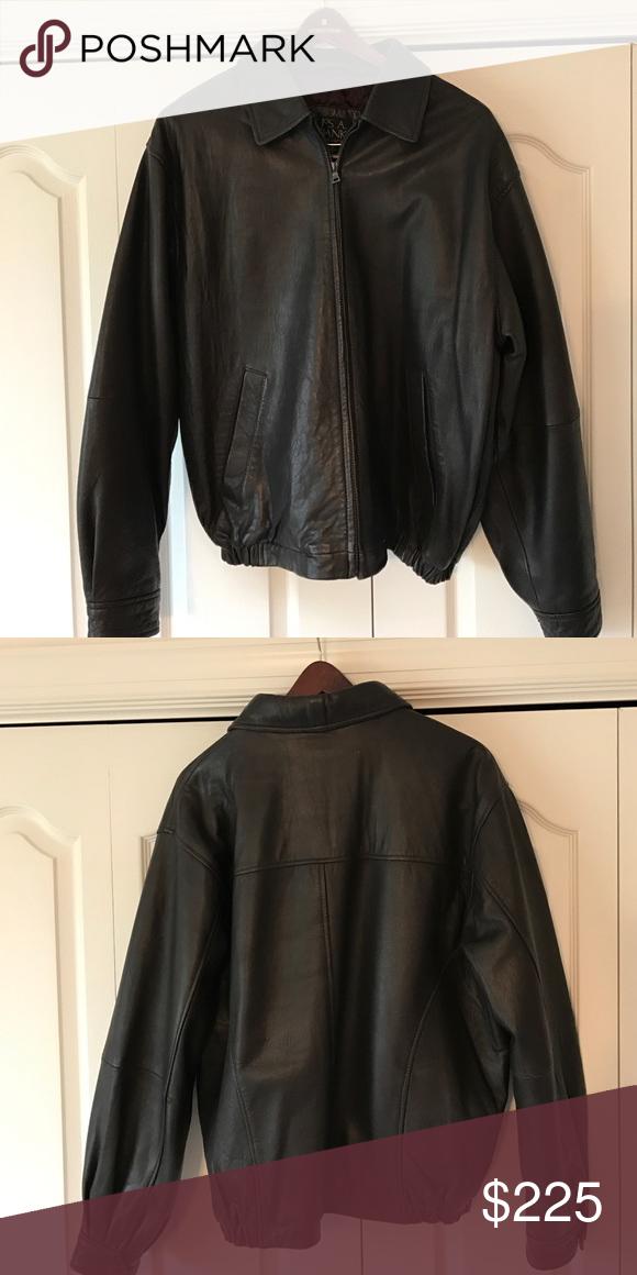 Men's leather jacket Joseph Banks men's leather jacket, dark brown, quilted lining, like new Joseph Banks Jackets & Coats Bomber & Varsity