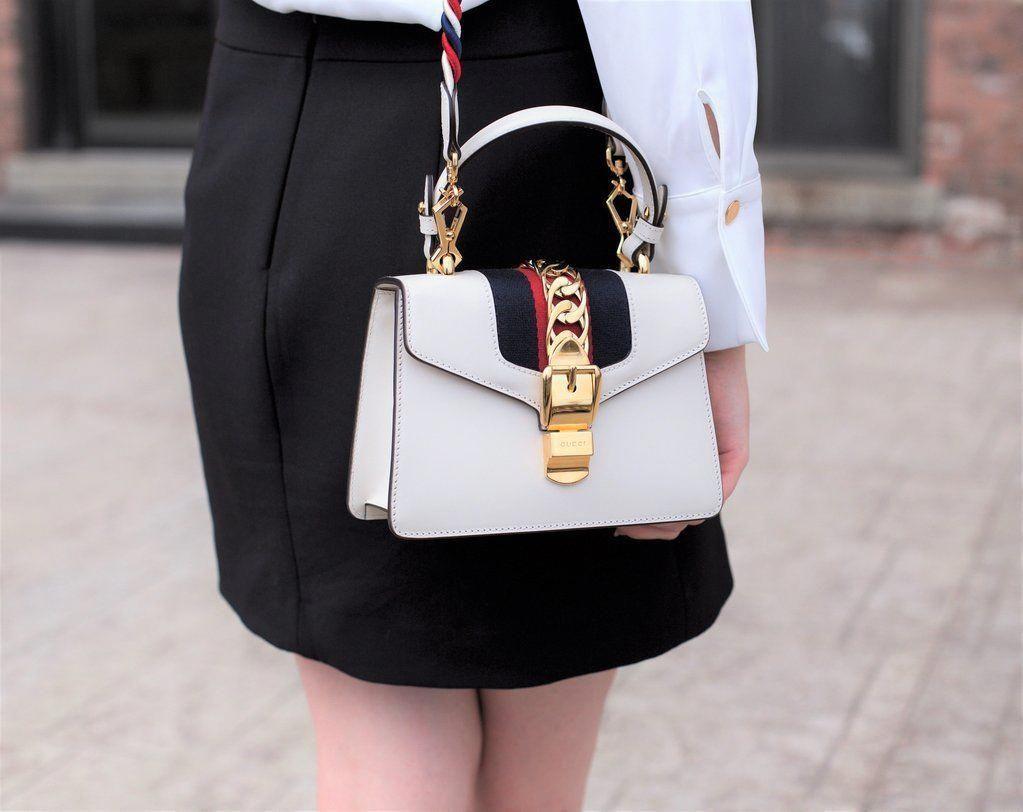 Gucci White Mini Sylvie Bag Love That Bag Preowned Authentic Designer Handbags Loveauthenticguccihandbags Gucci Handbags Gucci Sylvie Bag Brighton Handbags