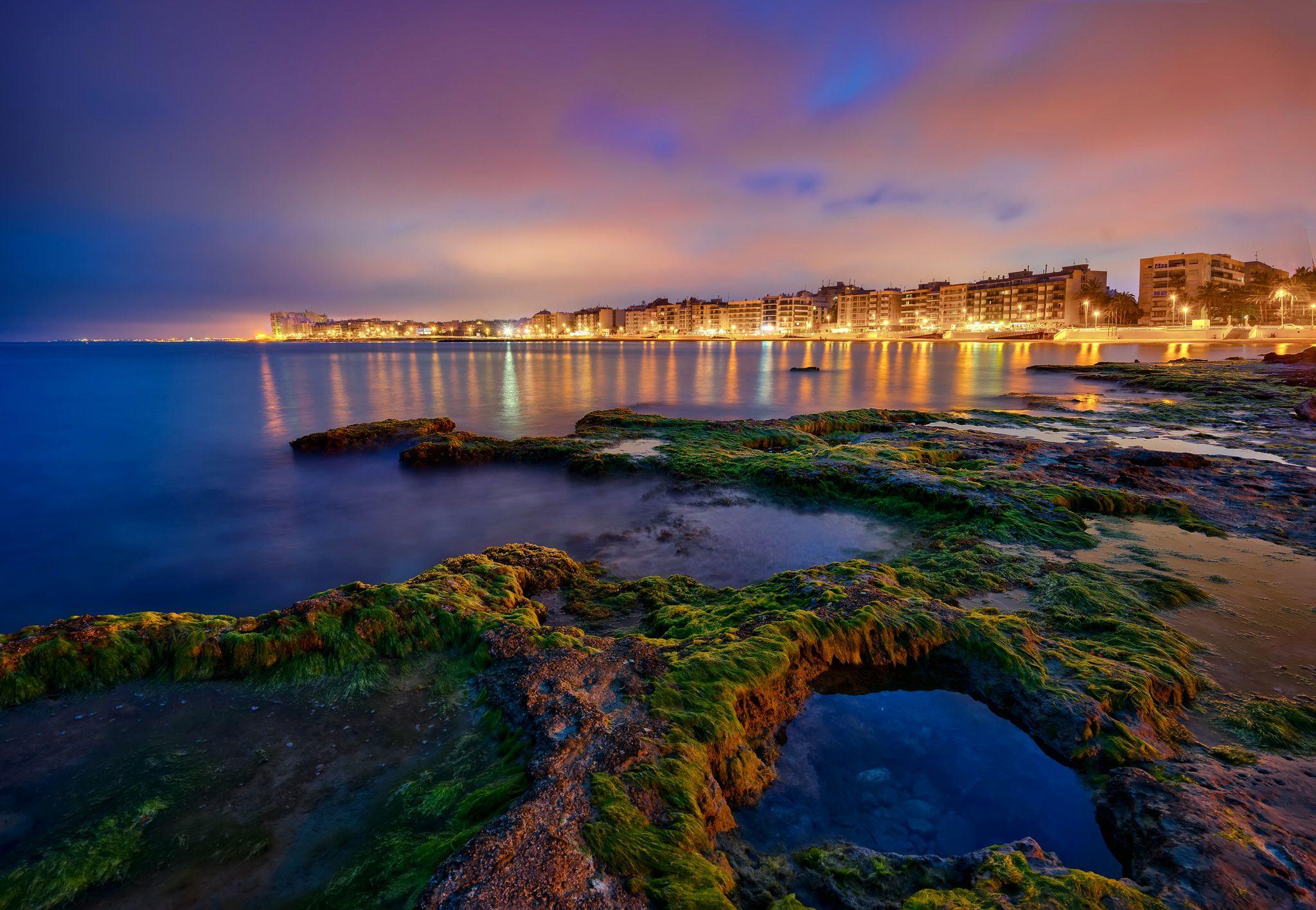 Espagne C Te Paysage Dans L Art Torrevieja Nuit Bryophyta Nature  # Muebles Torrevieja Spain