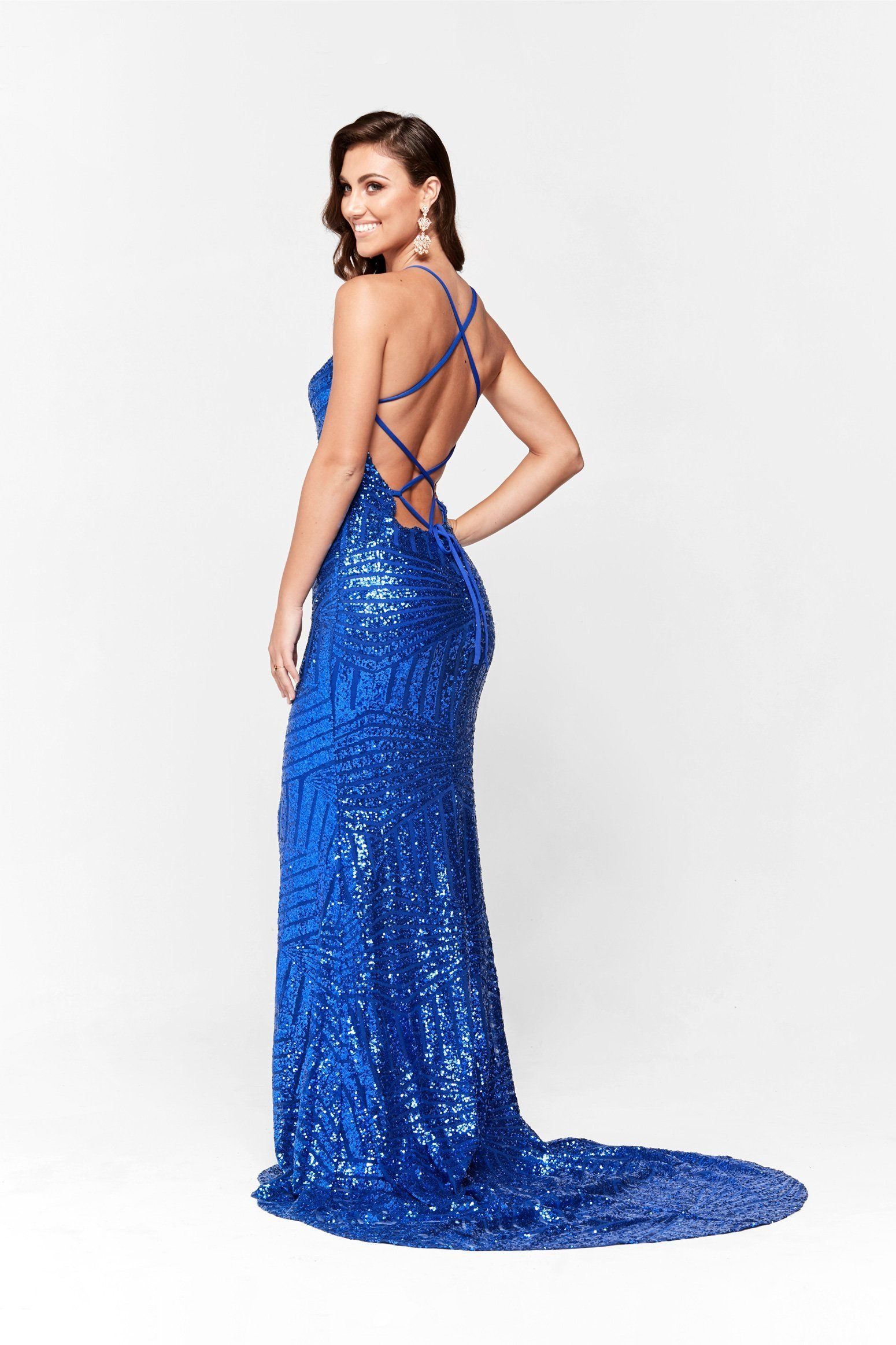 An Aniya Sequin Gown Royal Blue In 2019 Vanessas Wedding