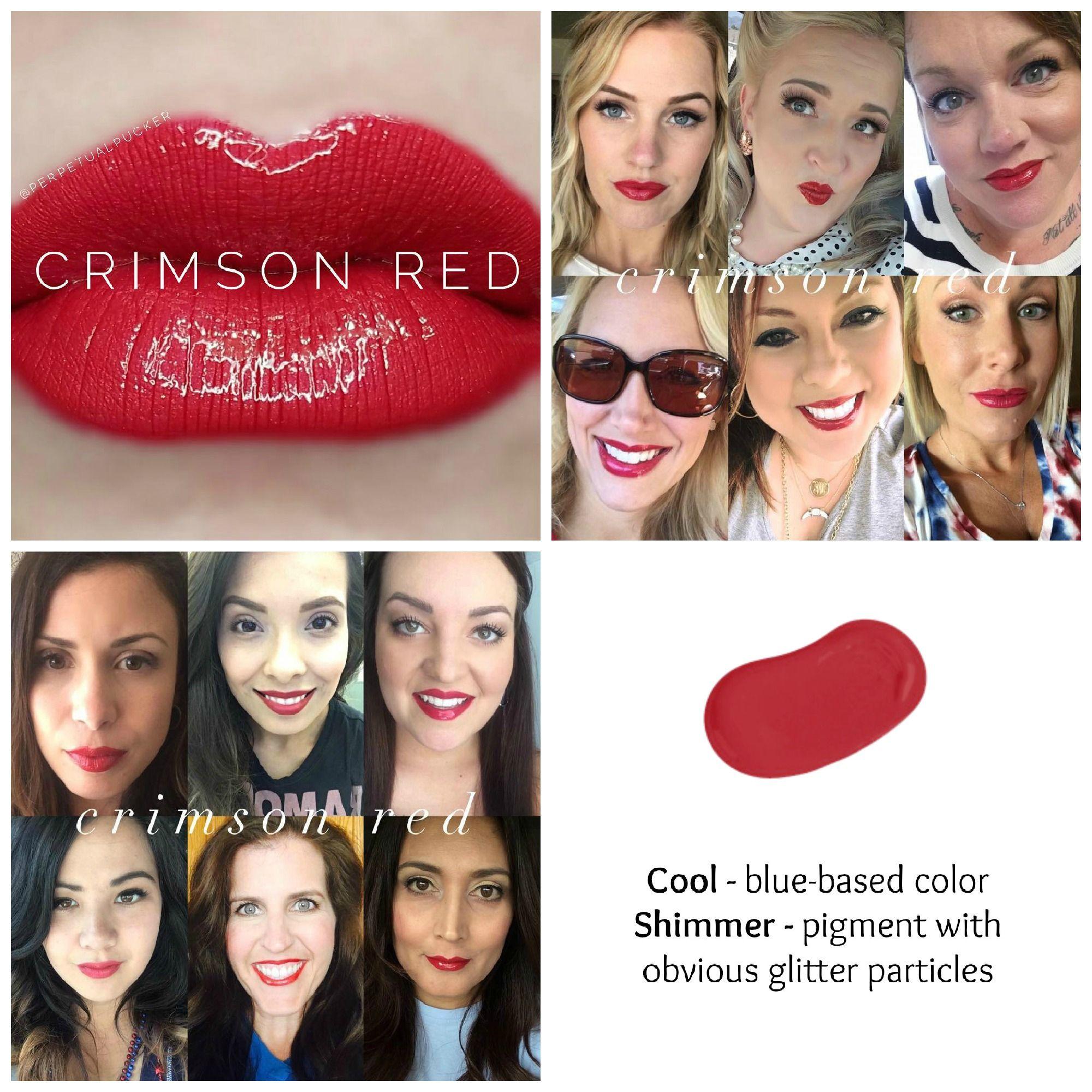 Crimson Red Lipsense *Retired Color   Lipsense Color Charts