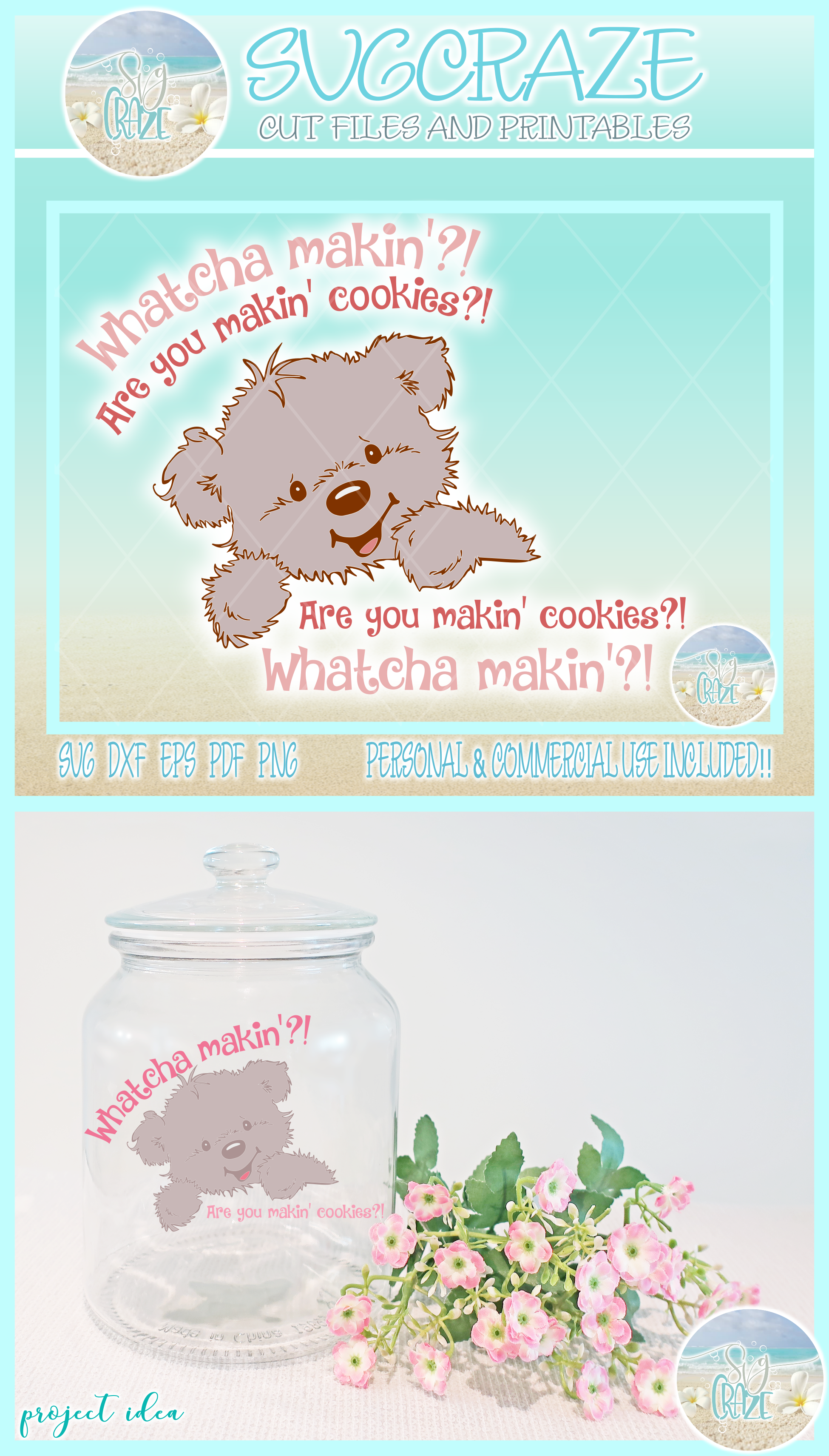 Download Are You Making Cookies Cute Mixer Cookie Jar Decal SVG ...