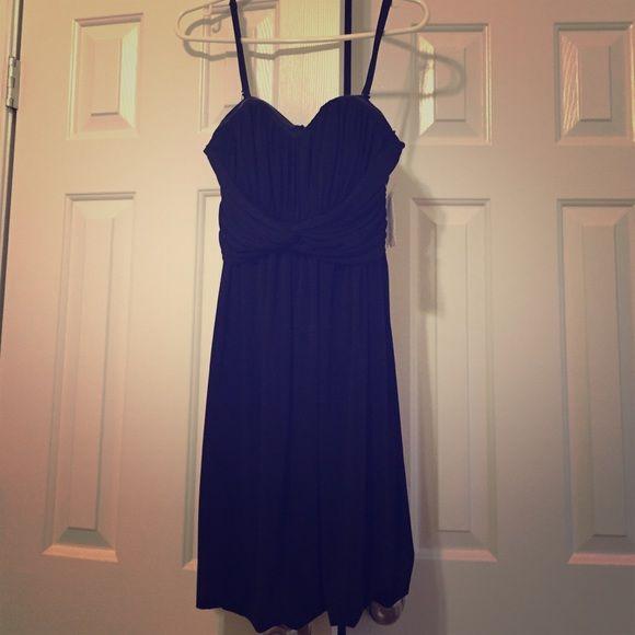 Black spaghetti strap dress, holiday dress Above the knee, spaghetti strap, black dress Jessica Simpson Dresses