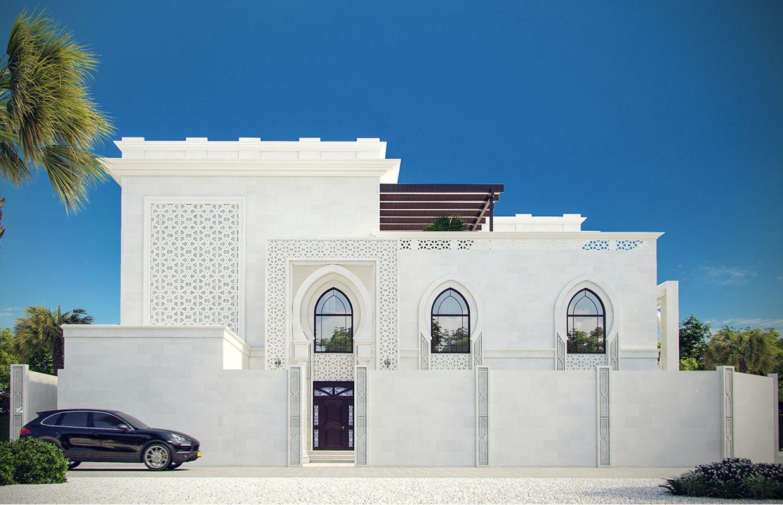 واجهات فيلا بطراز إسلامي مودرن تصميم خارجي المملكة العربية السعودية كومليت للعمارة Exterior Design Villa Design Architecture