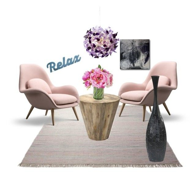 """RELAX"" by alessia-only ❤ liked on Polyvore featuring interior, interiors, interior design, home, home decor, interior decorating, ESPRIT, colorchallenge and lilacandmint"