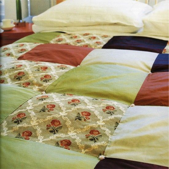 How to make a patchwork bedspread | Sewing | Pinterest | Bedspread ... : how to make bedspread quilt - Adamdwight.com