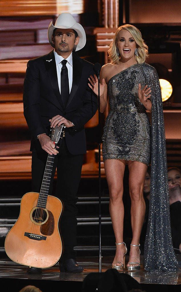1551b65da2939 Carrie Underwood and Brad Paisley Team Up to Host CMA Awards for the 10th  Year in a Row ...