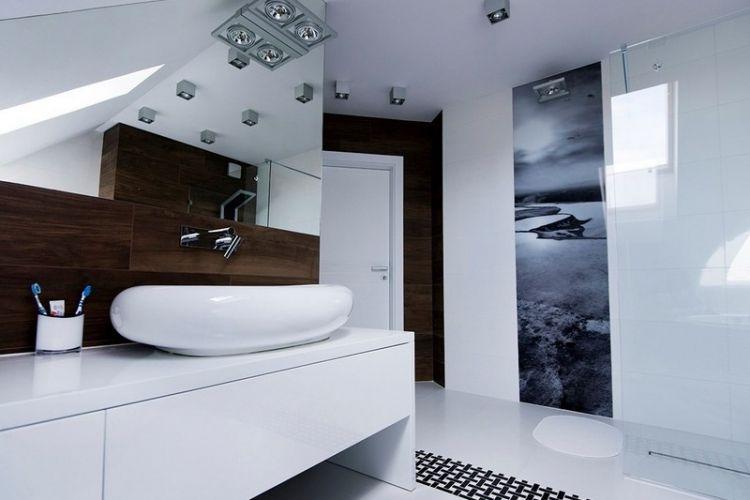 Papier peint salle de bain moderne - 30 idées ingénieuses