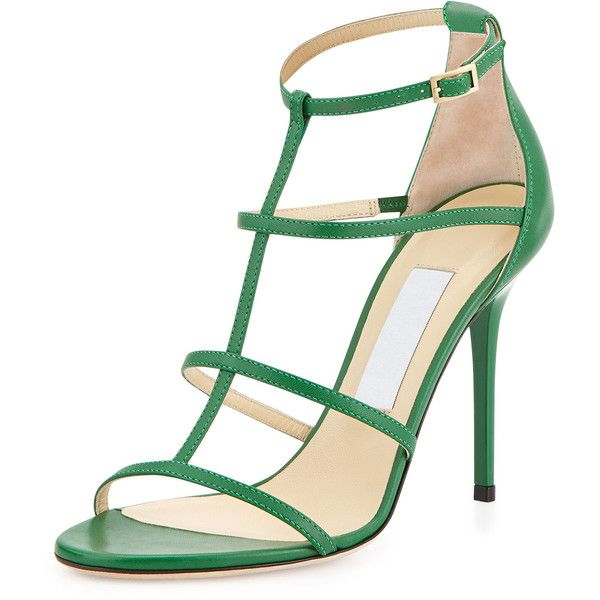 76b8d578b172 Jimmy Choo Dory Caged Leather Sandal ( 365) ❤ liked on Polyvore featuring  shoes