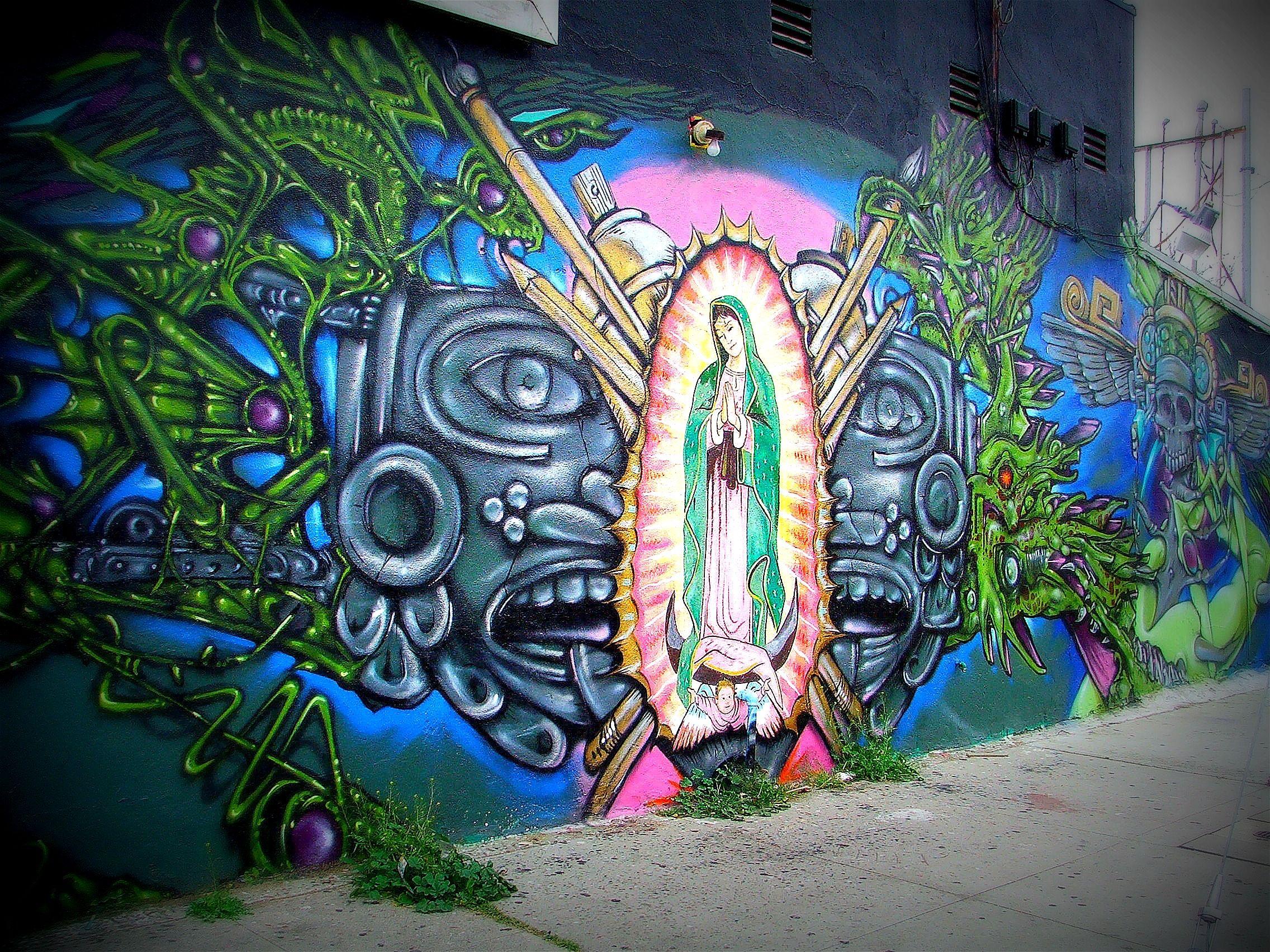 Graffiti art diy - Mural On Van Nuys Blvd In Pacoima