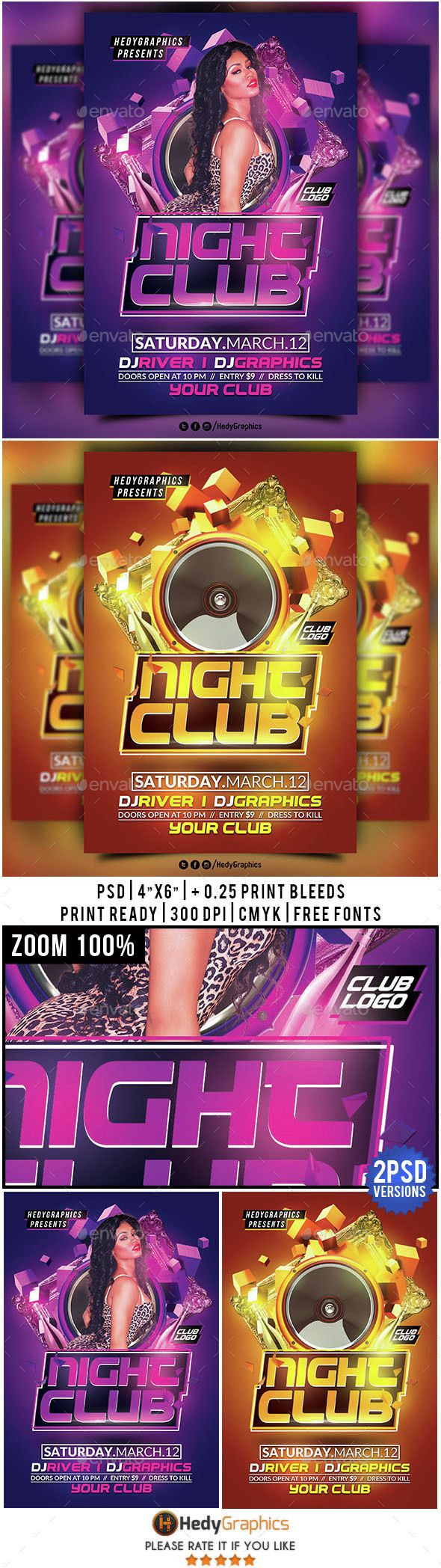 Night Club  Flyer Template  Night Club Party Poster And Flyer