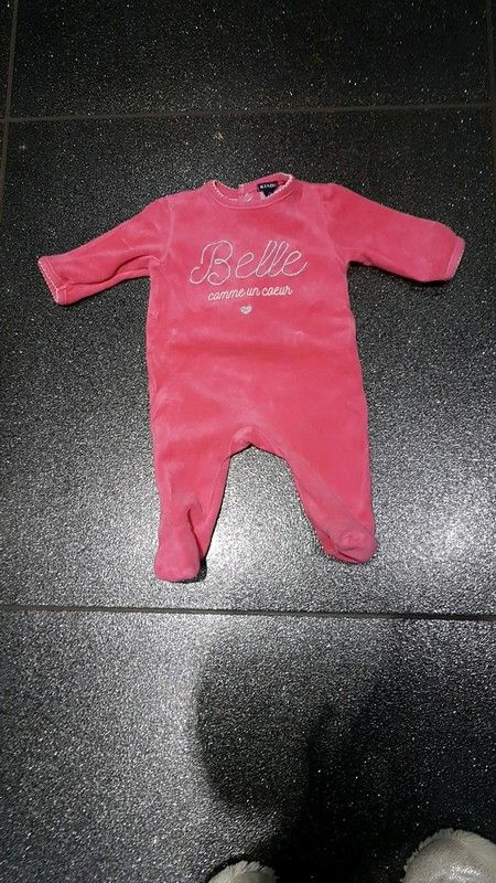 Pyjama grenouillère Kiabi bébé 3 mois en velours  ef570736ba0