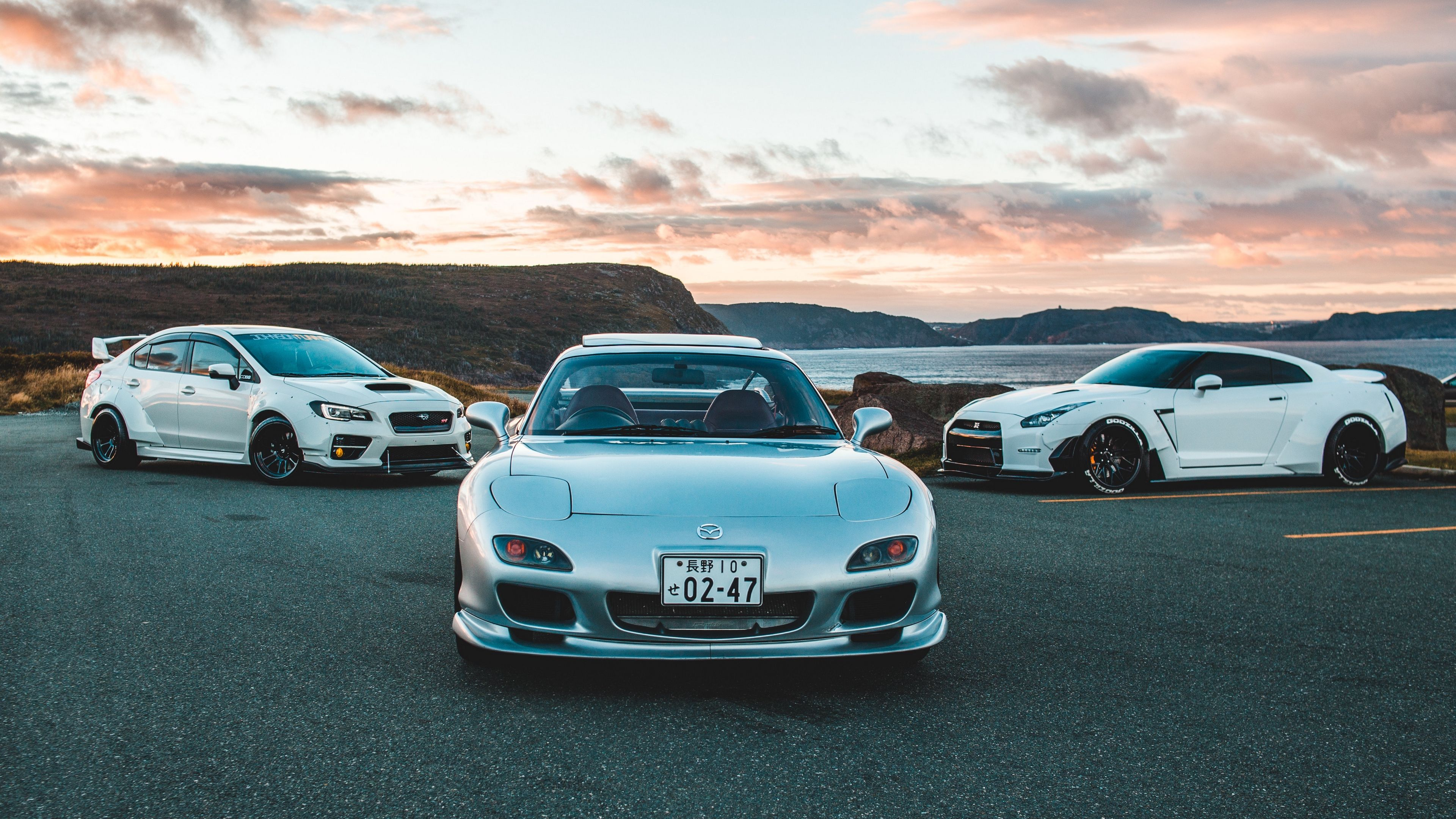 3840x2160 Wallpaper Mazda Rx 7 Mazda Cars Front View Backround