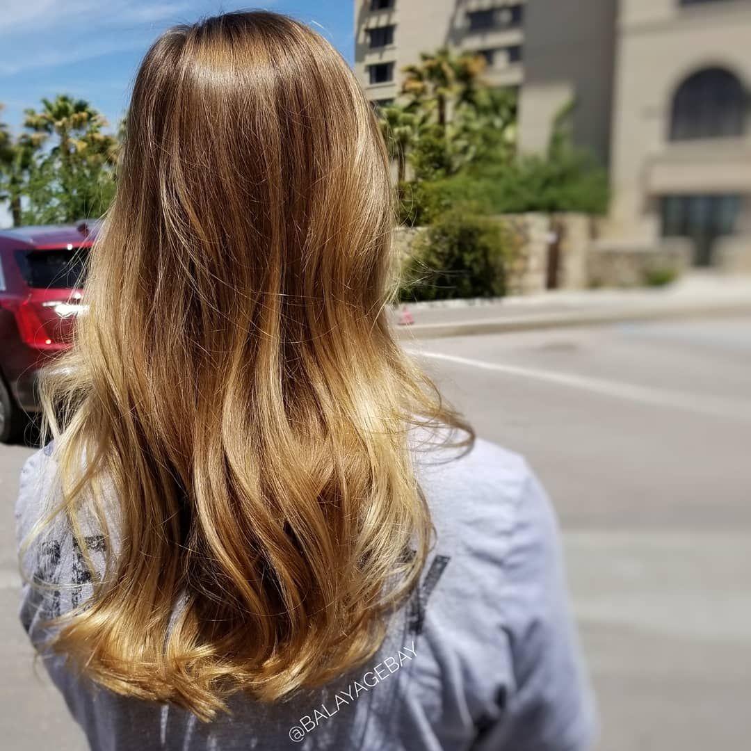 Enhancing Healing Natural Blonde Hair Through Balayage As Always Using Only Lanzahaircare Proces Natural Blondes Hair Balayage