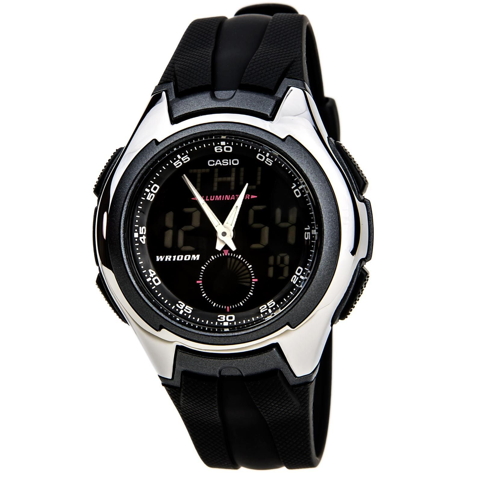 Casio AQ160W1B Men's Classic Black Dial Black Rubber