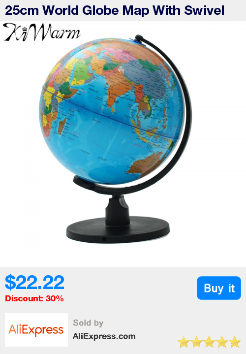 25cm world globe map with swivel stand map of earth geography 25cm world globe map with swivel stand map of earth geography study tool home office bookcase gumiabroncs Image collections