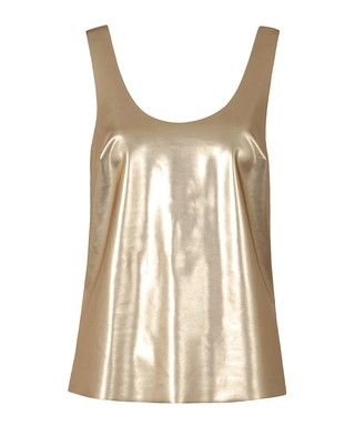 Lita gold-tone scoop neck vest Sale - Louche Sale