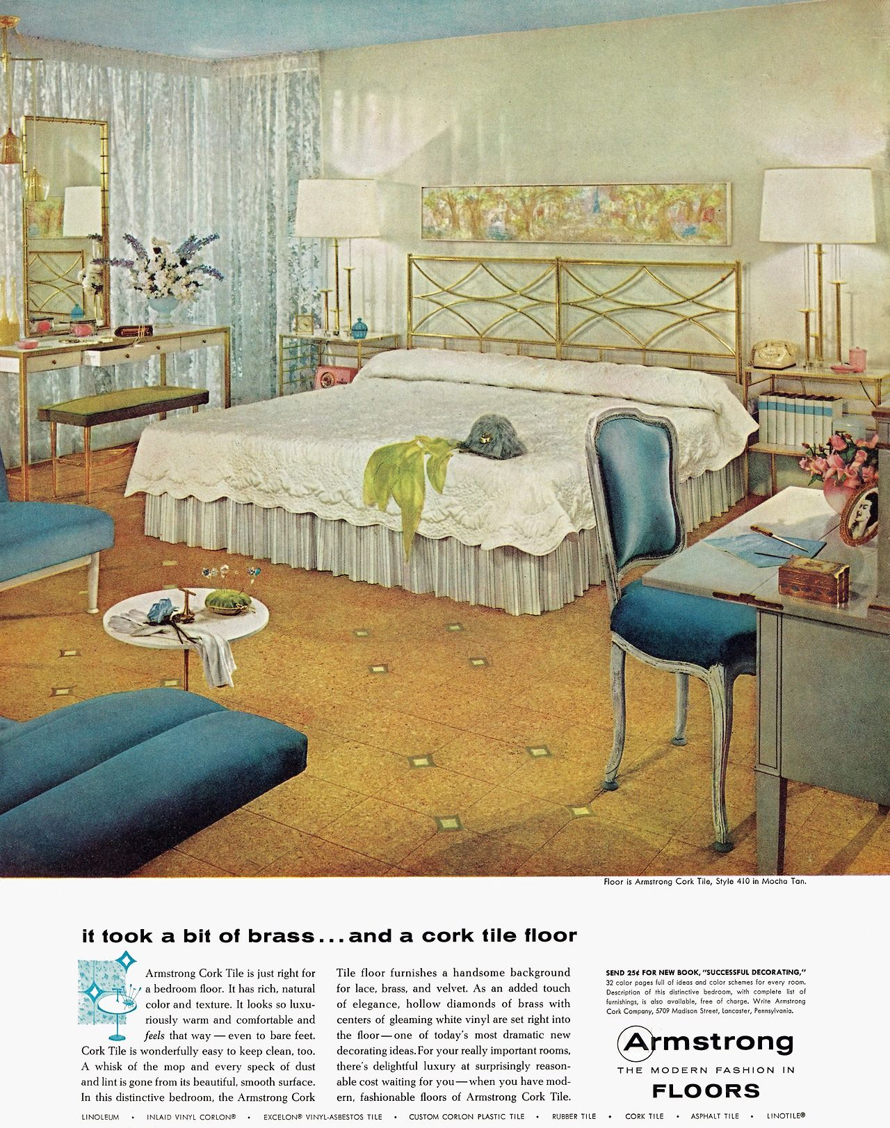 Armstrong Cork Tile Floor 1957had It In My Bedroom For