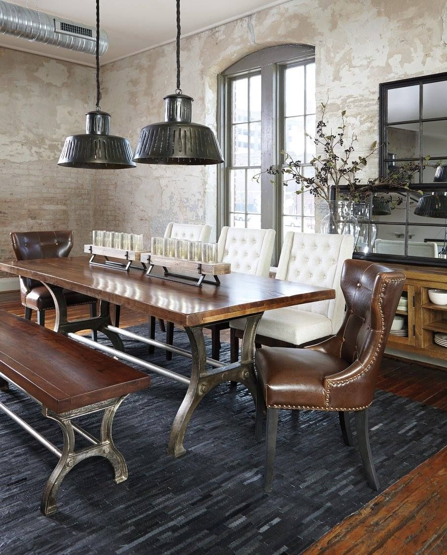 Dining Room Sets Leather Chairs Enchanting The Urbanology Collection Ashley Furniture Homestores Http Design Ideas