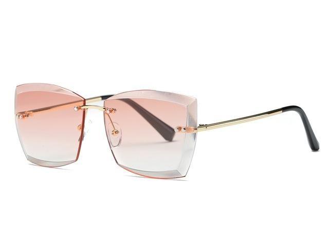 be7acd0d541 Vintage Diamond Cut Sunglasses (5 variants). Sunglasses For Women Square  Rimless ...