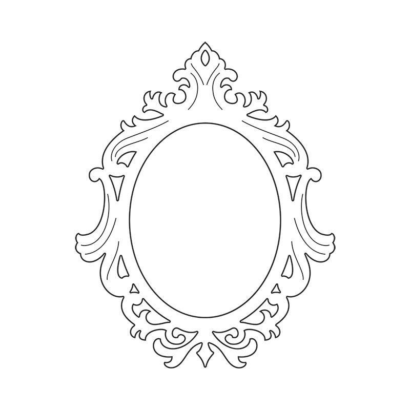 Sizzix Thinlits Die Frame Ornate Oval Stencils Pinterest