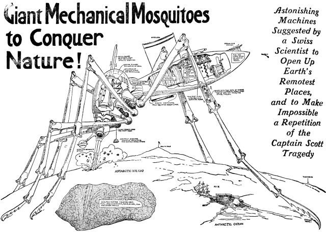 Be Careful Female Mosquitoes Bite Humans 1913 Giant Mechanical