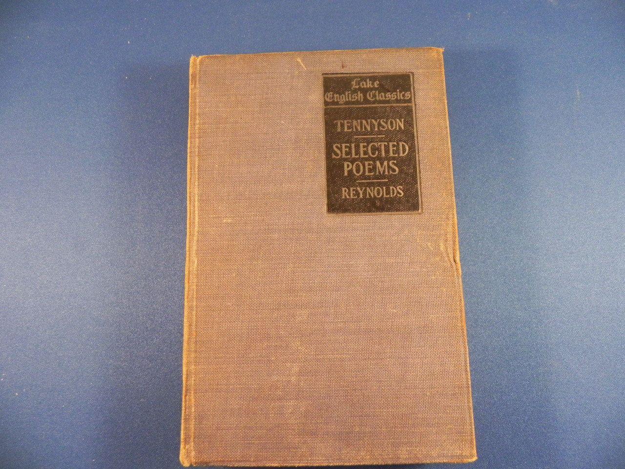 Antique Book Lake English Classics Of Tennyson Poems