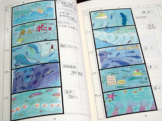 The Art Of Ponyo Part I  Storyboards  Storyboard Anime And
