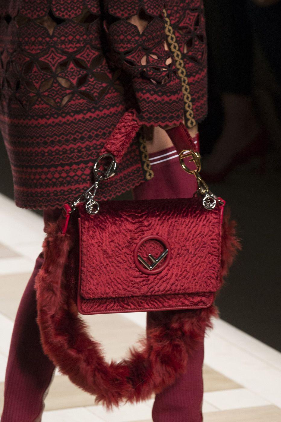 Fendi at Milan Fashion Week Fall 2017   Bags    Clutches    Handbags ... 70ff15aae6f