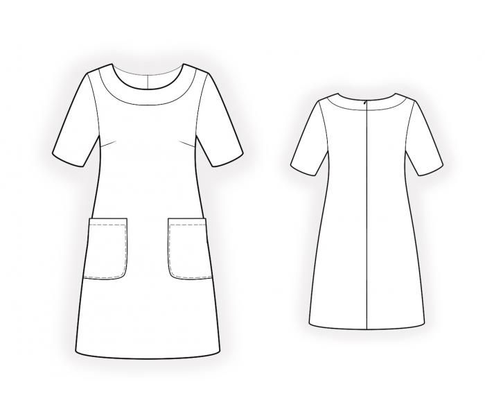 Simple Dress - Sewing Pattern #4517 Made-to-measure sewing pattern ...