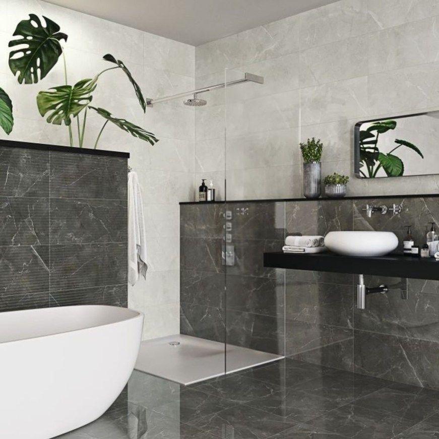 Fabulous Ceramic Tile Designs For Bathroom Walls15 Gray Bathroom