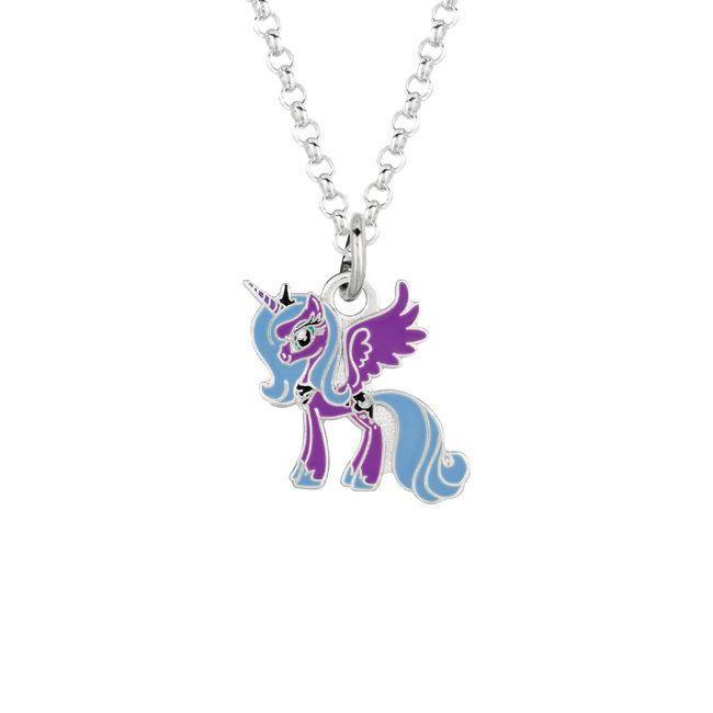 Fine silver plated luna purple unicorn my little pony pendant fine silver plated luna purple unicorn my little pony pendant necklace womens size aloadofball Gallery