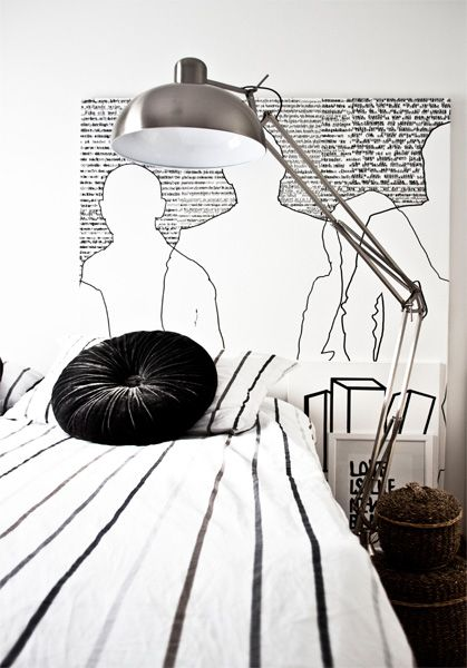 Regines kreativiteter: BLACK & WHITE BEDROOM