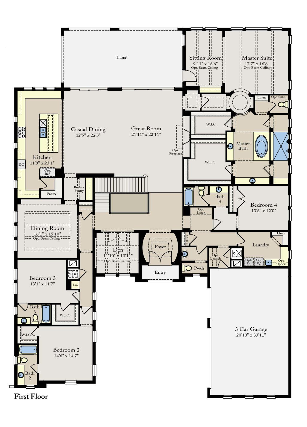 7414a Lucerne Ii New Home Plan In Waterside The Strand By Lennar New House Plans House Plans New Homes