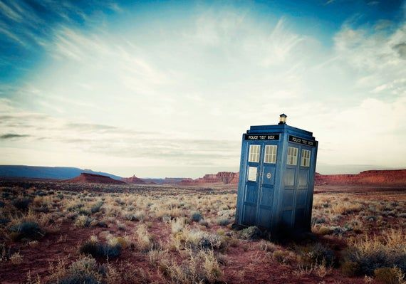 Tardis Large wall mural for kid, Doctor Who wall decal for