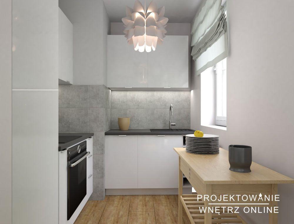 Mala Kuchnia W Mieszkaniu Pod Wynajem Kitchen Cabinets Kitchen Home Decor