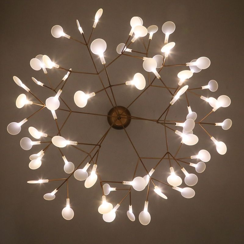 Moderne Kersenbloesems LED Kroonluchter Licht Goud Firefly ...