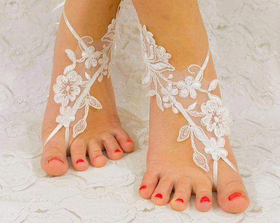 a5383949139728 Beach wedding barefoot sandals wedding shoes wedding