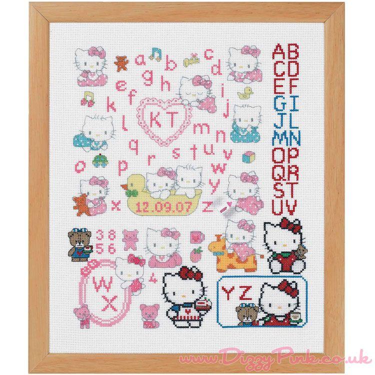 Hello Kitty Cross-Stitch Chart Hello Kitty Cross-Stitch Chart - Baby Kitty