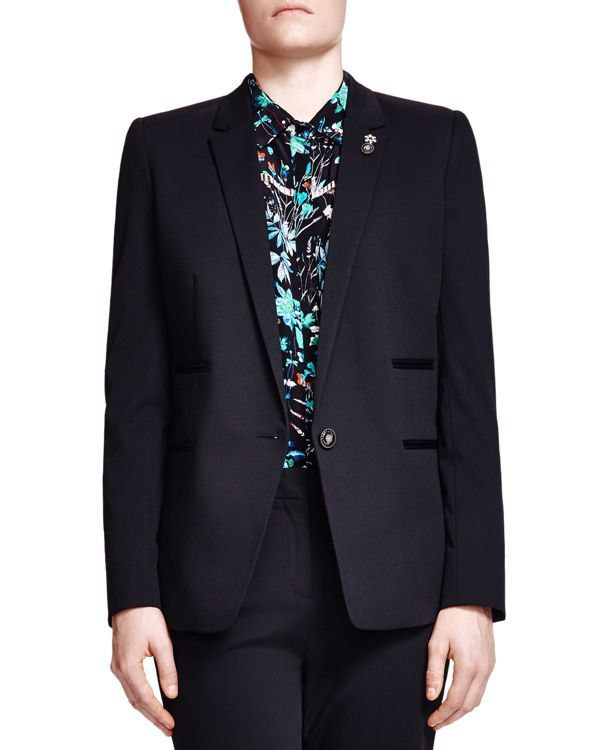 The Kooples Jewel Button Suit Blazer