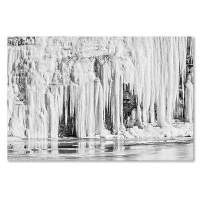 "Trademark Art 'Mill Hollow Winter' by Jason Shaffer Photographic Print on Wrapped Canvas Size: 12"" H x 19"" W x 2"" D"