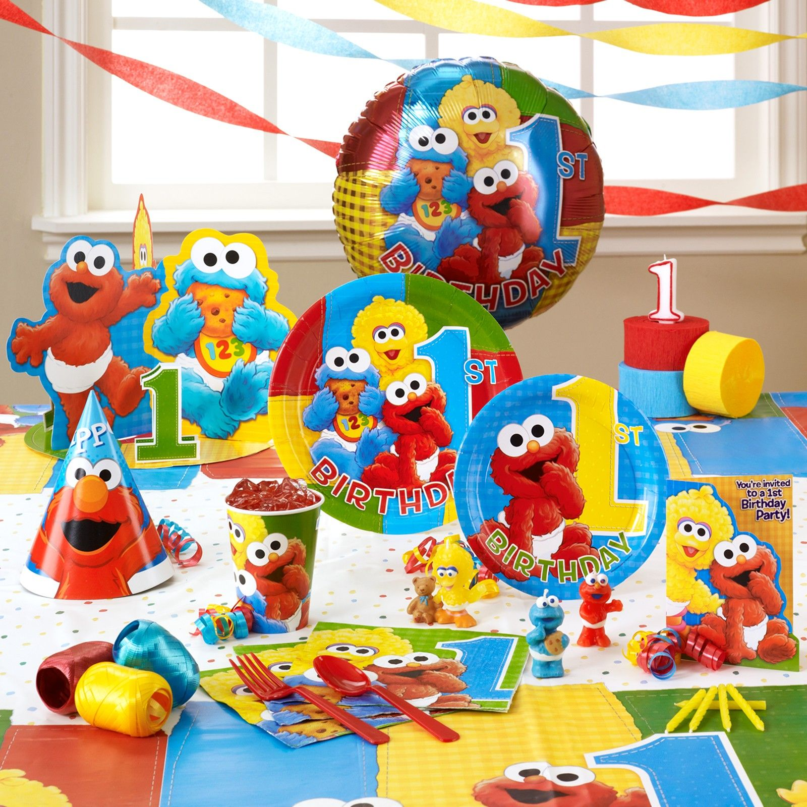 Elmo Decorations Party City 1st Birthday Party Supplies