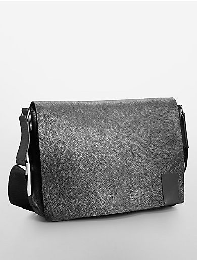 a8dcfdf020f4 pebble textured leather city messenger bag