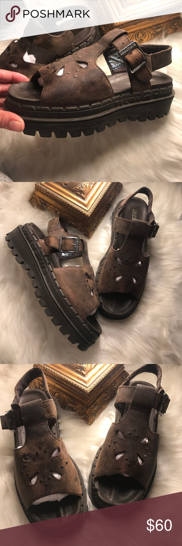 Skechers Jammers Vintage Chunky Sandals Grunge With Images